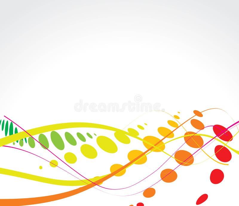 rastrerad multicolor wave för bakgrund stock illustrationer