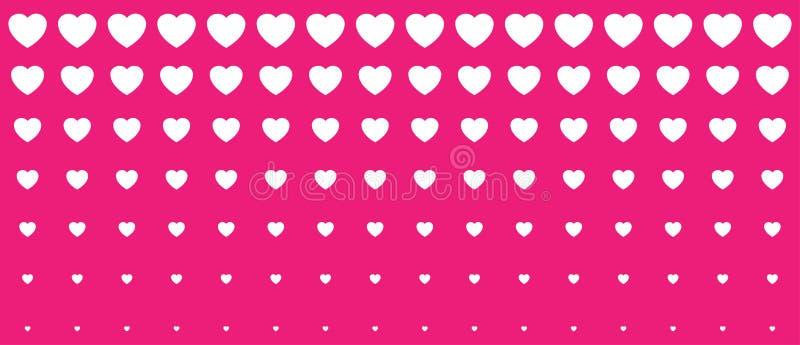 Rastrerad rosa hjärtalutningbakgrund Kort för illustration för valentindagdesign Bakgrund för bröllopinbjudankort royaltyfri illustrationer