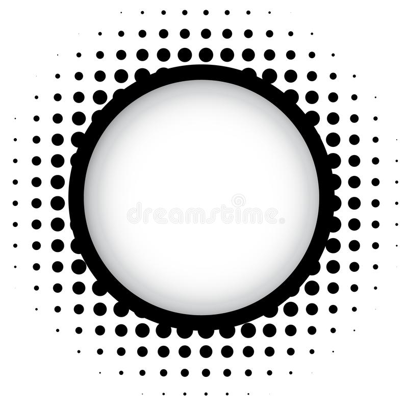 Rastrerad rund ram med skugga stock illustrationer