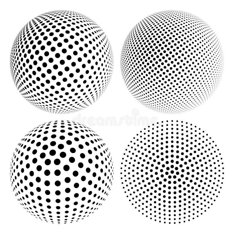 Rastrerad sfär vektor illustrationer