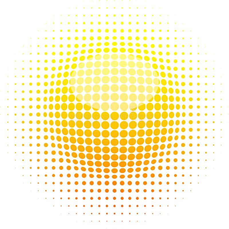 rastrerad sun royaltyfri illustrationer