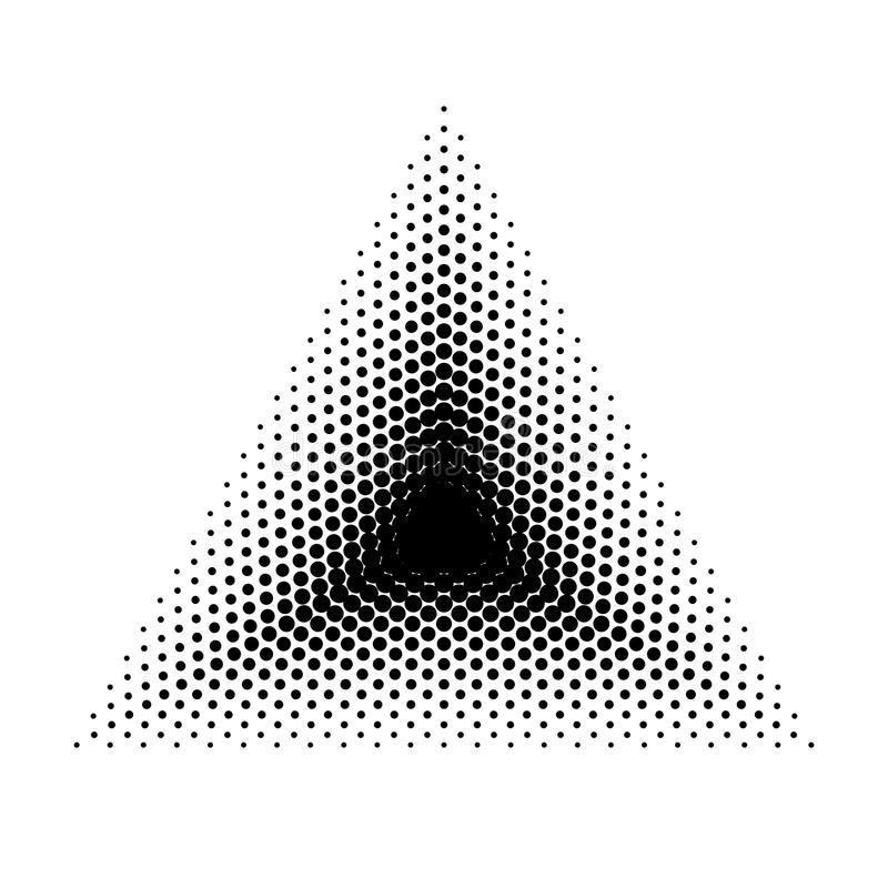 Rastrerade geometriska former för vektortriangel, abstrakt bakgrund för prick Dotwork illustration royaltyfri illustrationer