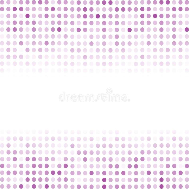 Rastrerade modeller Prickig bakgrund för rosa färg royaltyfri illustrationer