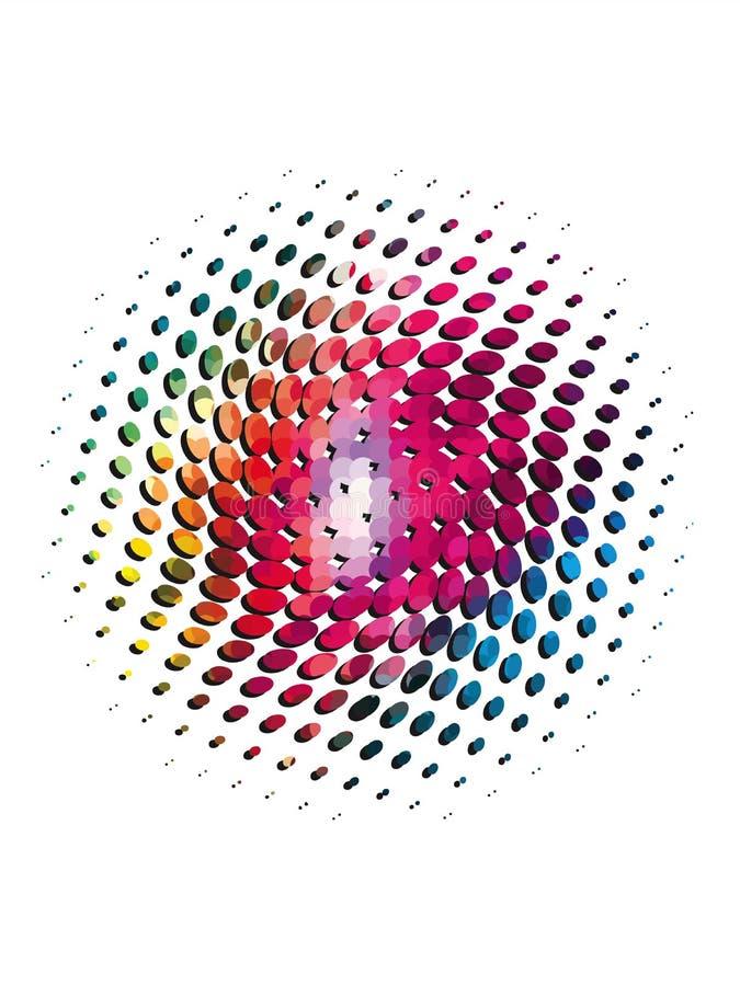 Rastrerade prickar för Splatter med skugga stock illustrationer
