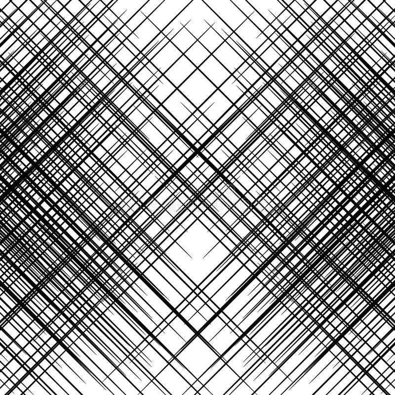 Rastret ingreppet av att luta som är snett, diagonal fodrar Geometriska Patte royaltyfri illustrationer