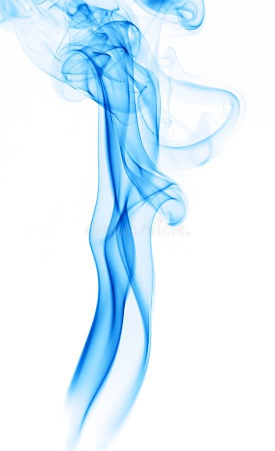 Rastro azul del humo foto de archivo