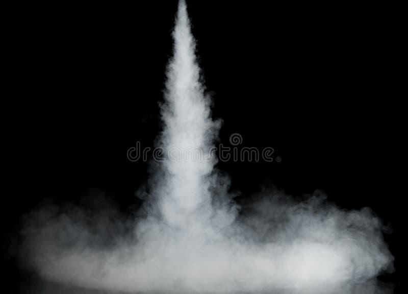 Rastro blanco del humo imagen de archivo