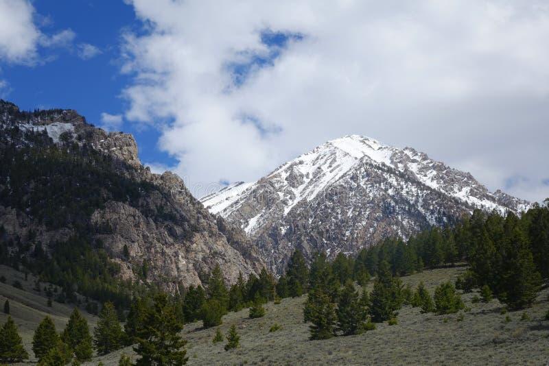 Rastro-cabeza para subir el Mt Borah fotografía de archivo