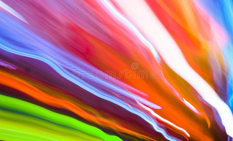 Rastro colorido de las luces foto de archivo