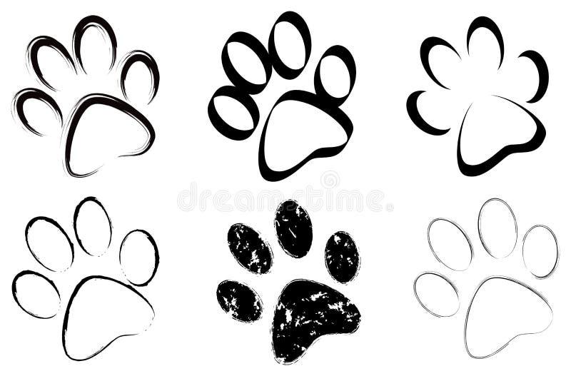 Rastro de conjunto de los perros stock de ilustración