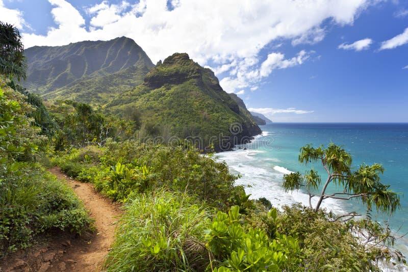 Rastro de Kalalau, Kauai fotos de archivo
