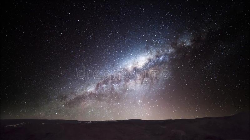 Rastro de la estrella en el desierto de Atacama Chile imagen de archivo libre de regalías