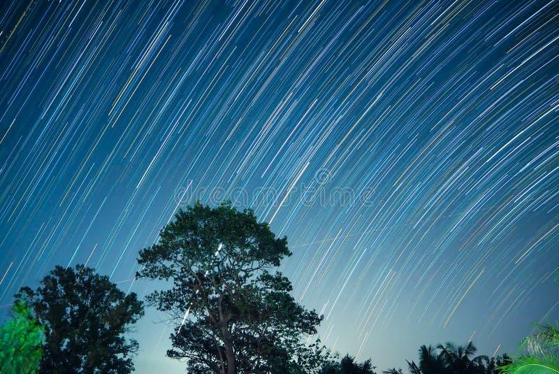 Rastro de la estrella en el sisaket Tailandia imagenes de archivo