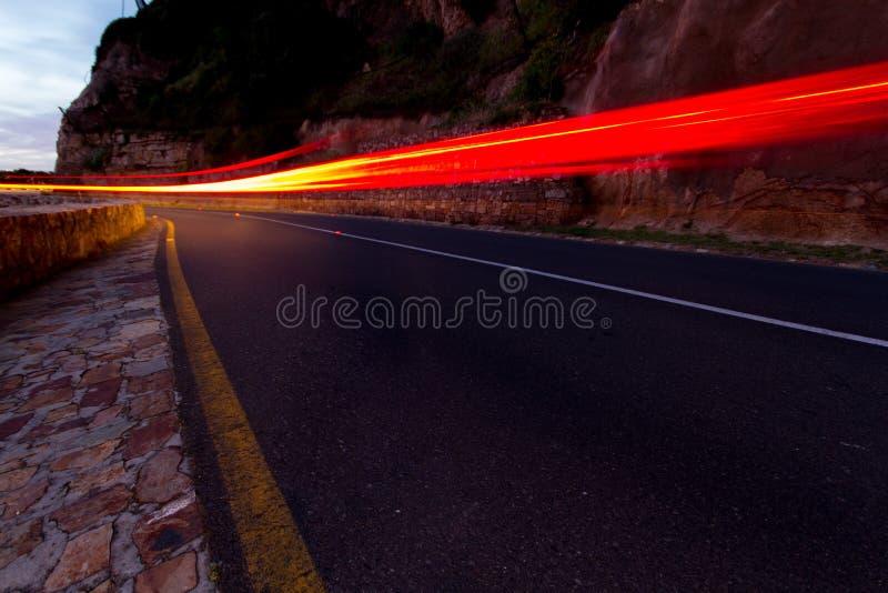 Rastro de la luz del pico de Chapmans imagen de archivo libre de regalías
