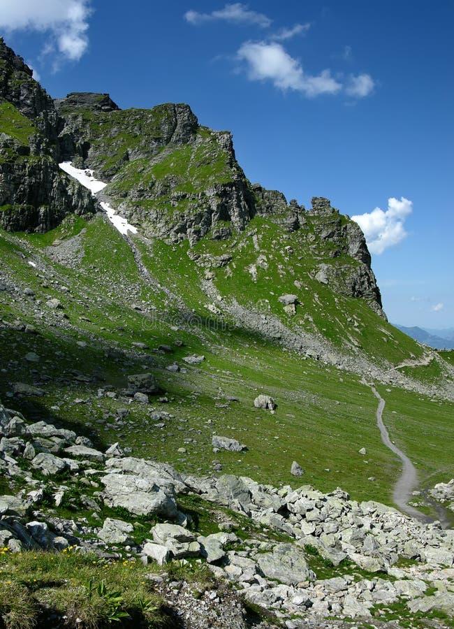 Rastro de montaña en Suiza fotografía de archivo