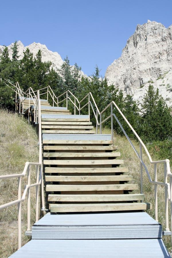 Rastro de naturaleza del estante del acantilado, parque de los Badlands foto de archivo
