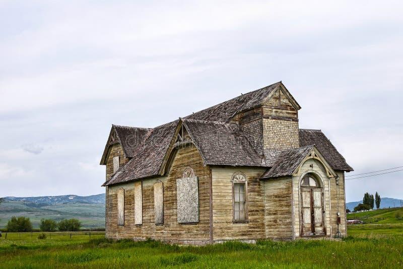 Rastro de Oregon, Ovid, Idaho, iglesia mormona anterior foto de archivo