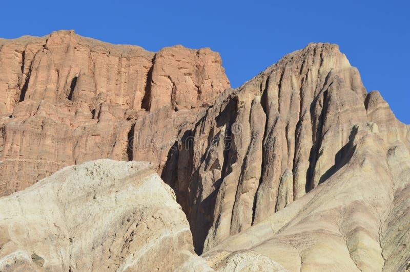 Rastro de oro del barranco, Death Valley imágenes de archivo libres de regalías