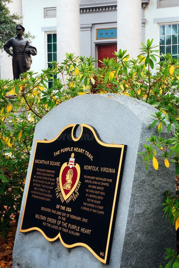 Rastro de Purple Heart, Norfolk, Virginia fotos de archivo