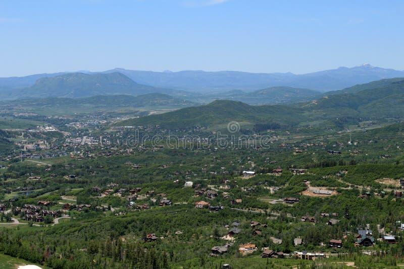 Rastro de Thunderhead, Steamboat Springs, Colorado foto de archivo libre de regalías