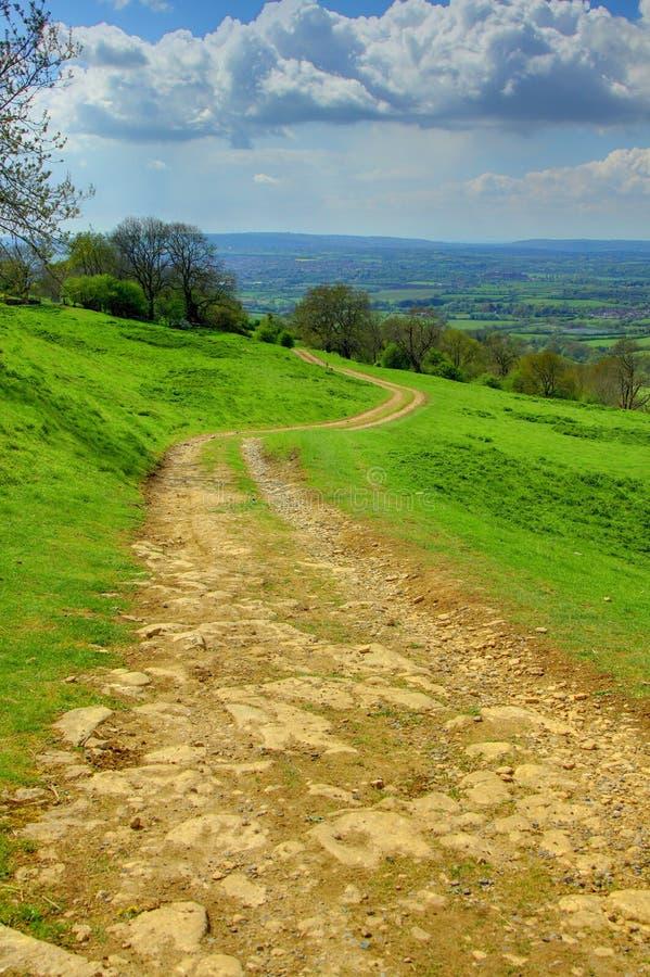Rastro del campo, el Cotswolds, Inglaterra foto de archivo libre de regalías