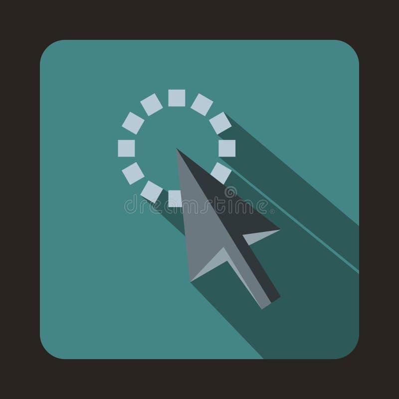 Rastro del icono del cursor, estilo plano ilustración del vector