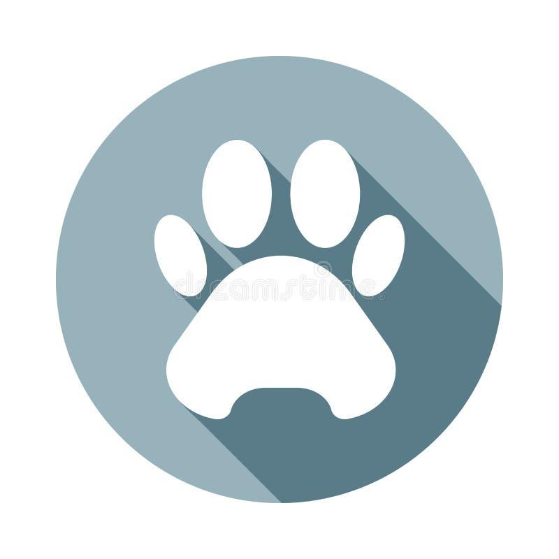rastro del icono de la bestia en estilo largo plano de la sombra Uno del icono de la colección del web se puede utilizar para UI, stock de ilustración