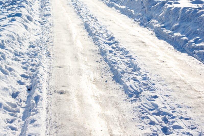 Rastro del invierno imagen de archivo libre de regalías
