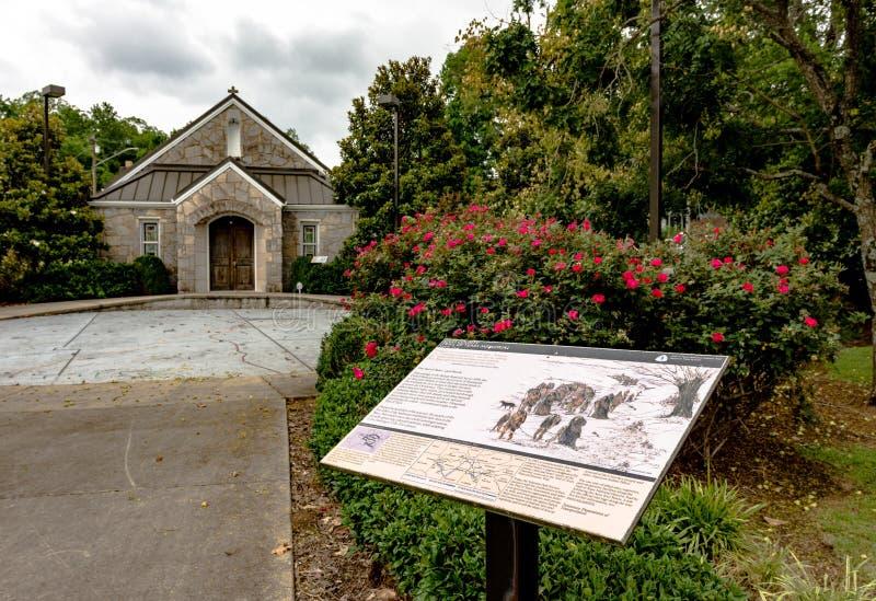Rastro del museo y del monumento de los rasgones en Pulaski, TN fotos de archivo libres de regalías