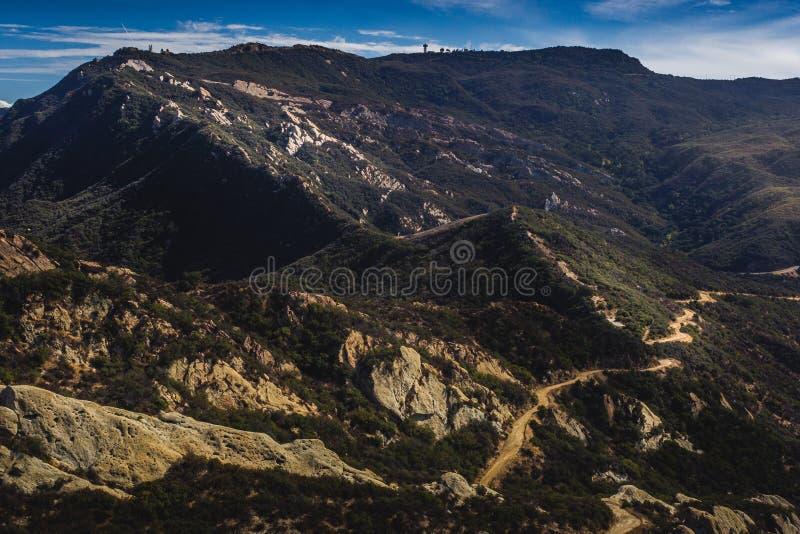 Rastro del pico de Calabasas foto de archivo