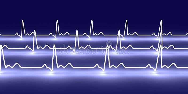 Rastro del pulso ilustración del vector