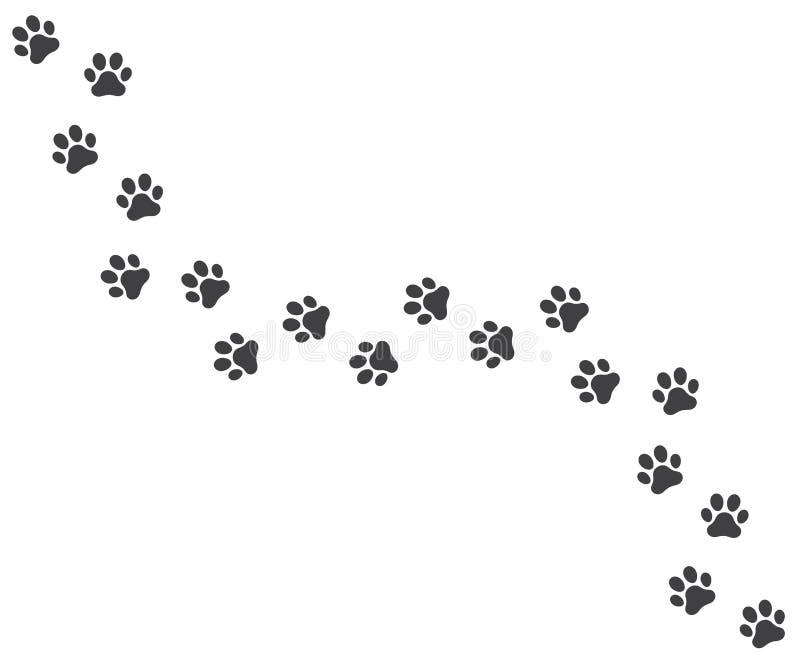 Rastro del vector de las huellas del perro libre illustration