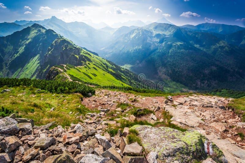 Rastro en las montañas foto de archivo
