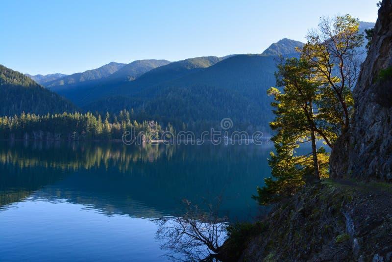 Rastro junto a creciente del lago fotografía de archivo libre de regalías