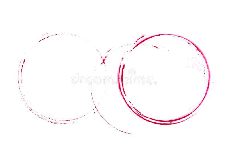 Rastro redondo de vino tinto en un fondo blanco libre illustration