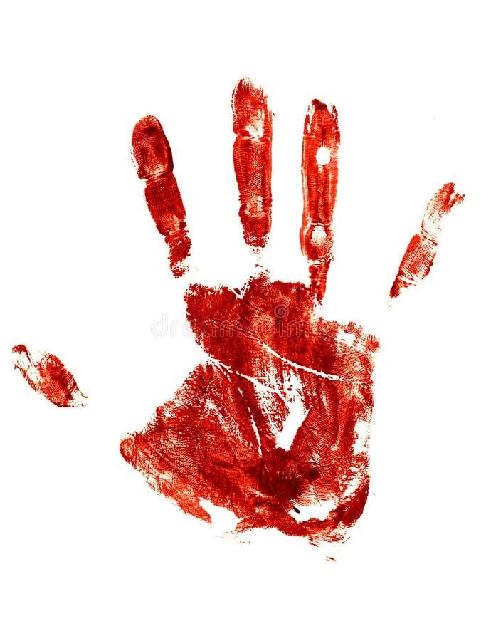 Rastro sangriento de una mano humana stock de ilustración