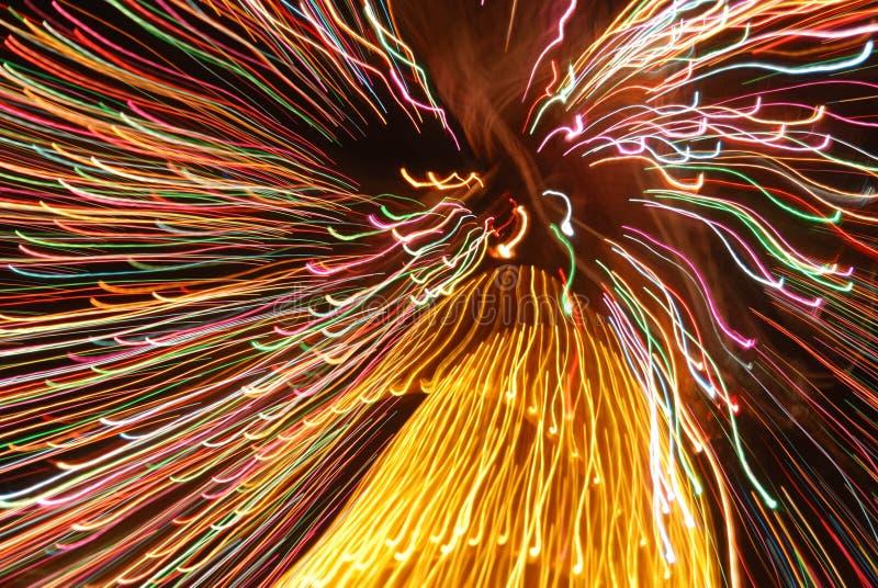 Rastros abstractos de la luz foto de archivo libre de regalías