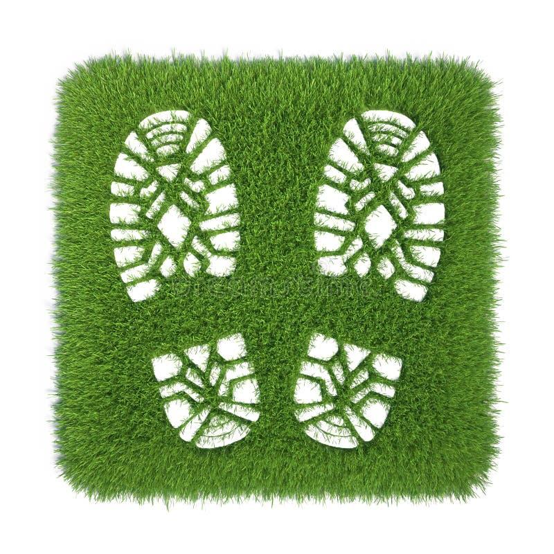 Rastros de cargadores del programa inicial en hierba verde libre illustration