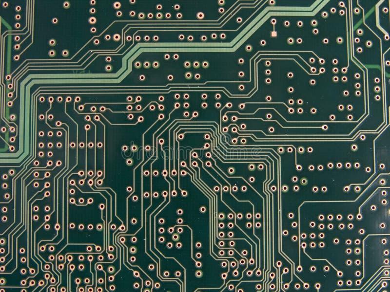 Rastros de circuito y Vias imagenes de archivo