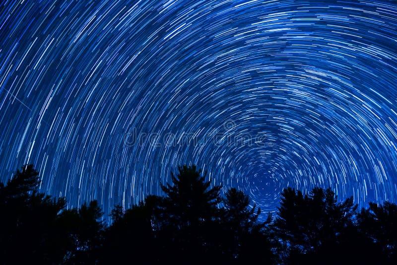 Rastros de la estrella sobre Carolina del Norte foto de archivo