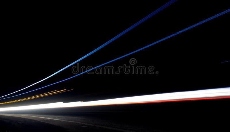 Rastros de la luz del coche fotos de archivo libres de regalías