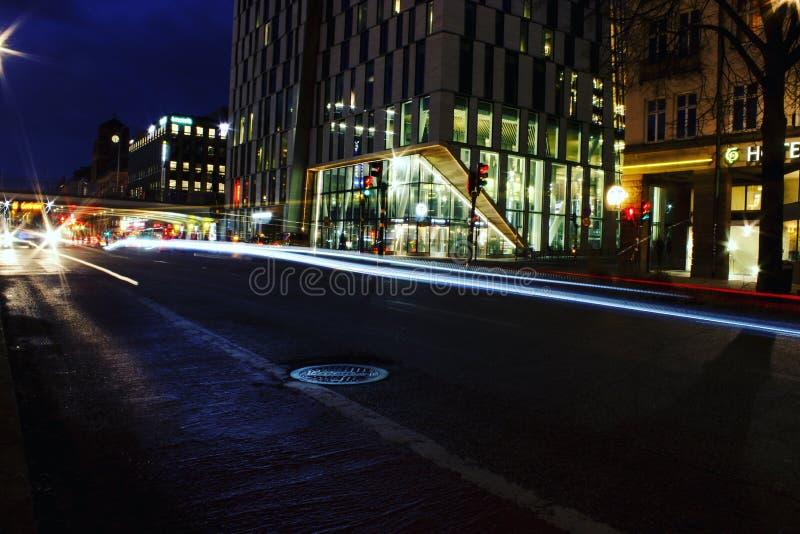 Rastros de la luz en Estocolmo imágenes de archivo libres de regalías