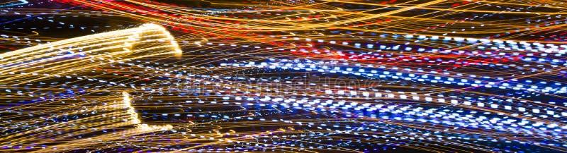 Rastros decorativos abstractos de la luz imágenes de archivo libres de regalías