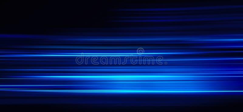 Rastros ligeros azules del extracto imagenes de archivo