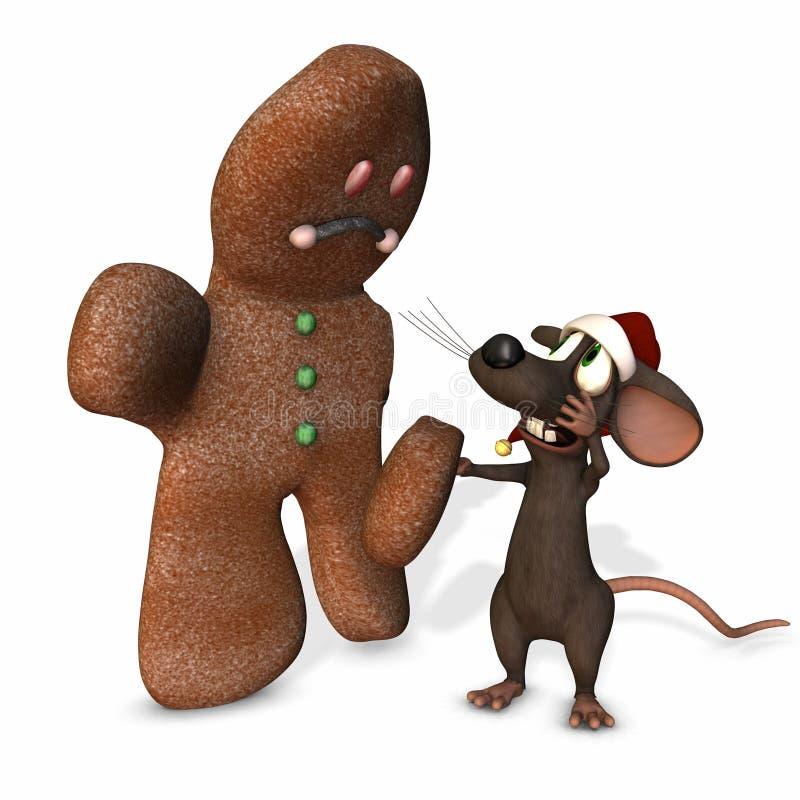 Ratón 3 de la Navidad stock de ilustración
