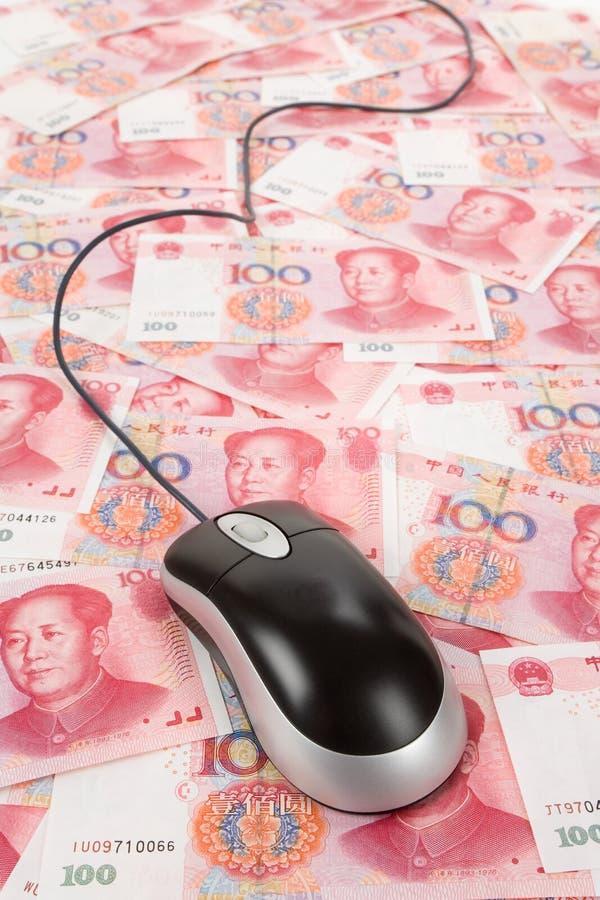 Ratón chino de Yuan y del ordenador fotos de archivo