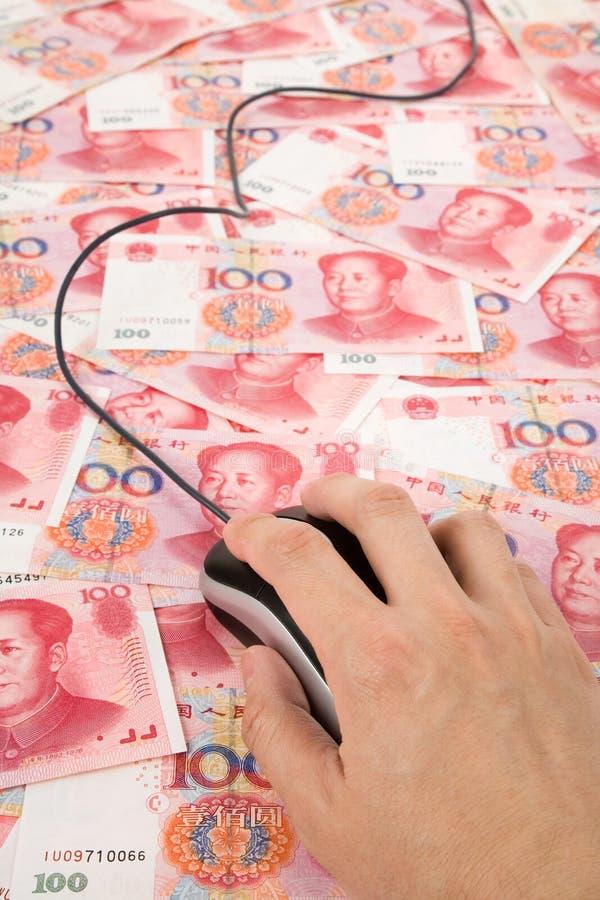 Ratón chino de Yuan y del ordenador imagen de archivo libre de regalías