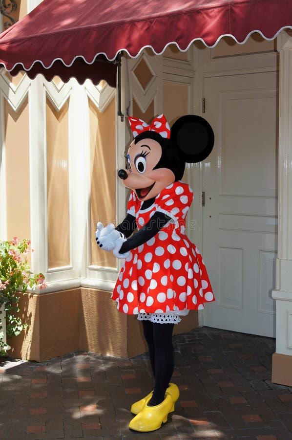 Ratón de Minnie Disneylandya imágenes de archivo libres de regalías