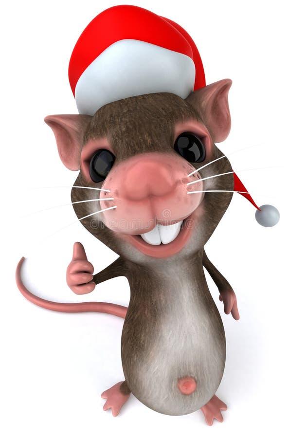 Ratón de Santa ilustración del vector