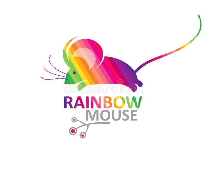 Ratón del arco iris stock de ilustración